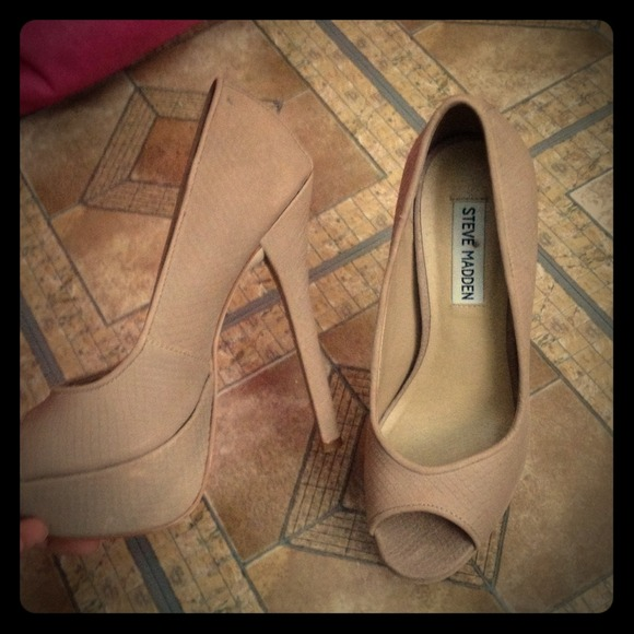 50% off Steve Madden Shoes - Nude pageant heels Steve Madden from ...