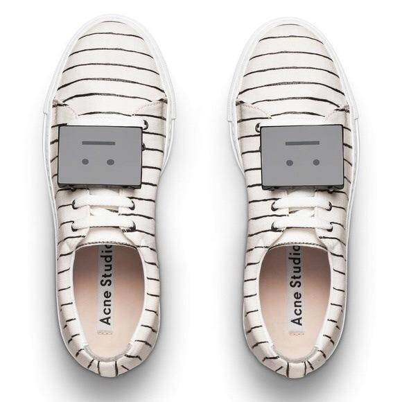 New acne studios Adriana emoji stripe sneakers