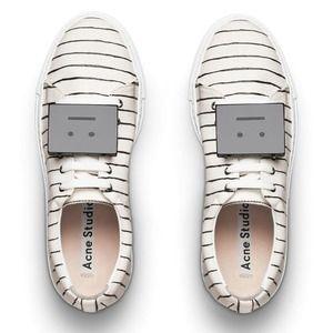 Acne Shoes - New acne studios Adriana emoji stripe sneakers