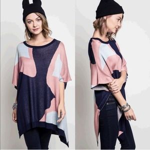 The MELLIE poncho - PINK