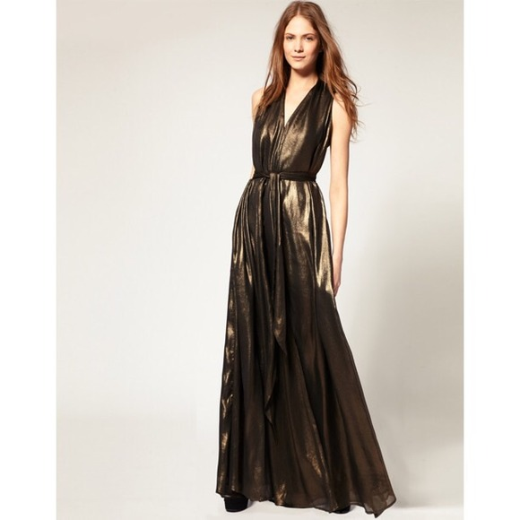 5767ab4f6d HP French Connection Metallic Dress