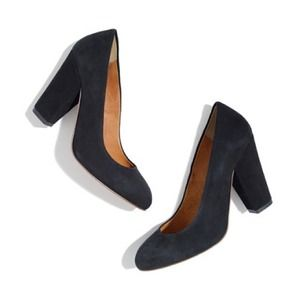 Madewell Frankie Pump in Black Suede size 7