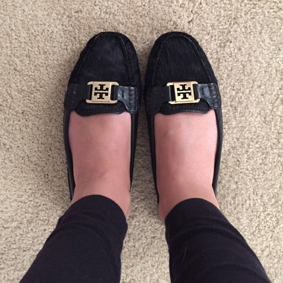 Tory Burch Black Driving Loafer