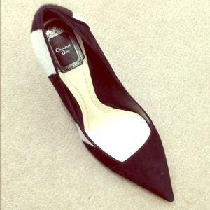 Dior horse hair heels