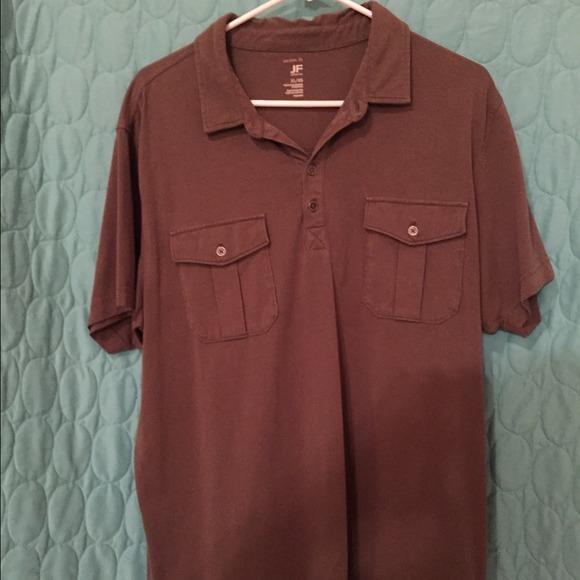 J ferrar tops men 39 s j ferrar polo style shirt with for J ferrar military shirt