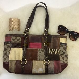 Coach Handbags - Stunning Patchwork Coach Shoulder Bag