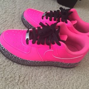 Nike Shoes | Nike Air Force S Hot Pink