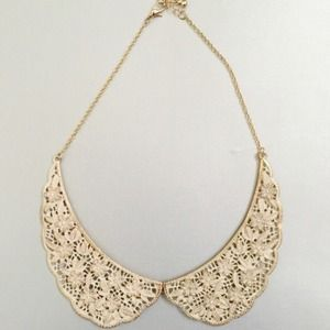 Gold Floral Peter Pan Collar Necklace