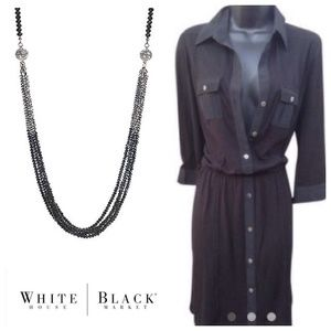 White House Black Market Buttondown Dress