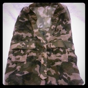 Tops - Sheer camo shirt