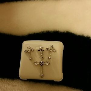 Jewelry - Sterling silver 3 piece cross set