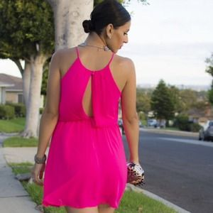 Poetry Dresses - Short Hot Pink Dress - Can Be Maternity Dress