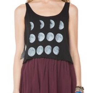 Brandy Melville Cropped Moon Tank