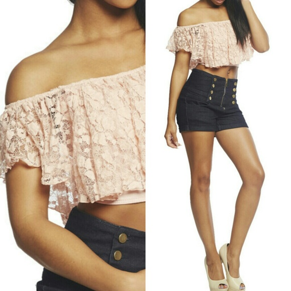 7dc7071a1daa28 Gorgeous Lace Crop Top. NWT. Arden B
