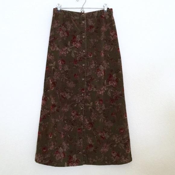 89bc078730 Eddie Bauer Dresses & Skirts - ✨CLOSETBOGO✨Eddie Bauer Corduroy Floral Maxi  Skirt