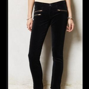 AG Adriano Goldschmied Pants - AG STEVIE MOTO ANKLE BLACK CORDS