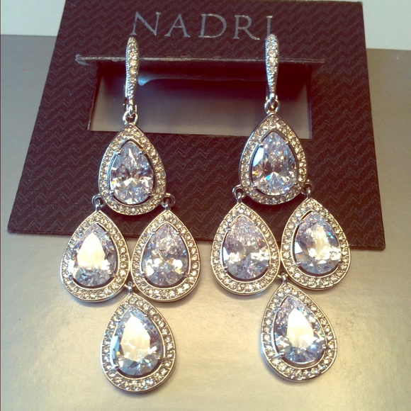 34% off Nadri Jewelry - NADRI SWAROVSKI CRYSTAL CHANDELIER ...