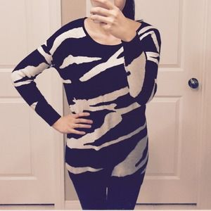⬇️Sale⬇️Zebra Print Sweater Tunic