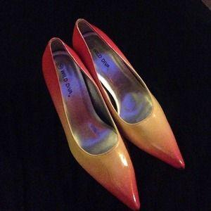 Wild Diva gradient heels