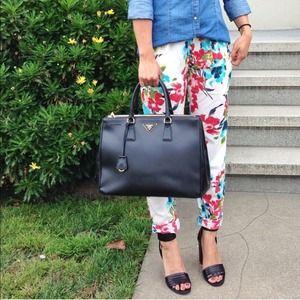 cheap prada handbag - 35% off Prada Handbags - Prada Saffiano Lux Double Zip Tote from ...