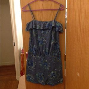 Blue floral spaghetti strap Juicy Couture sundress