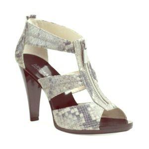 Michael Kors Berkley Python TStrap Sandals NWT