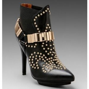 Jeffrey Campbell Volpe Leather Heel Boot