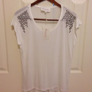 Two by Vince Camuto Shoulder Stud Tee