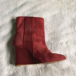 Zara wedge boots