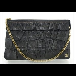 Authentic Chanel lambskin vintage evening bag