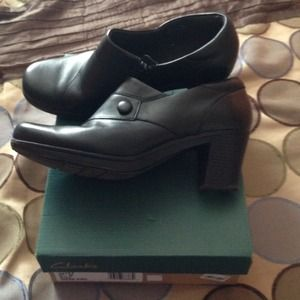 Black Clark Bendables Shoes