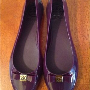 Authentic Tory Burch jelly bow flats