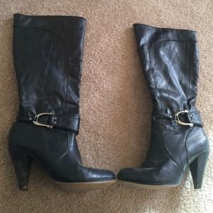 Black knee high ALDO boots