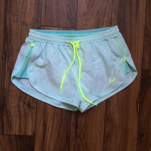 Abercombie Aqua neon workout running shorts XS