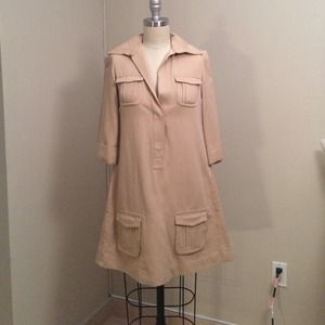 Diane Von Furstenberg khaki dress