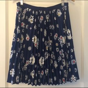 Jason Wu for Target Skirts - Jason Wu for Target navy floral pleated skirt