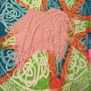 Pink poncho!