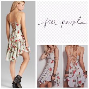 Free People Sage Floral Slip Dress.  NWT.