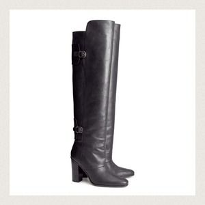 H&M Shoes - Over the Knee Leather boots H&M Paris collection