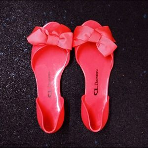 Chinese Laundry Shoes - Chinese Laundry Hot Pink Bow Jelly Flats