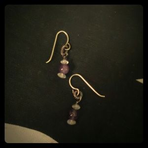 925 Amethyst and moonstone earrings