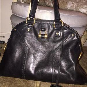 58% off Yves Saint Laurent Handbags - Ysl black large muse handbag ...