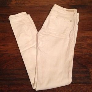 Pilcro White Skinny Jeans from Anthropologie.