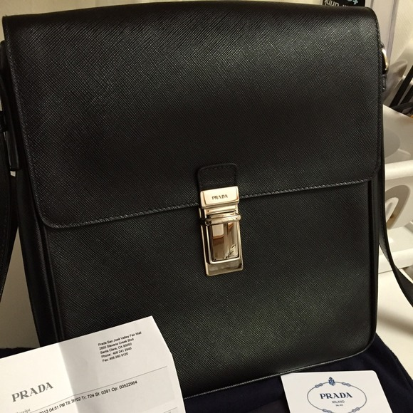 413787e707c207 Prada Bags | Pattina In Saffiano Travel Nero Tu | Poshmark