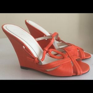 Size 36 Jill Stuart Orange Wedge Sandals