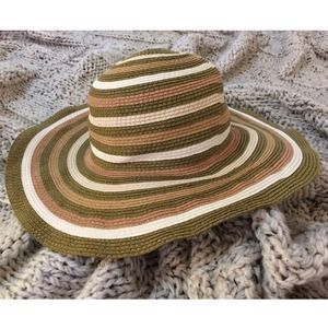Striped Summer Floppy Sun Hat