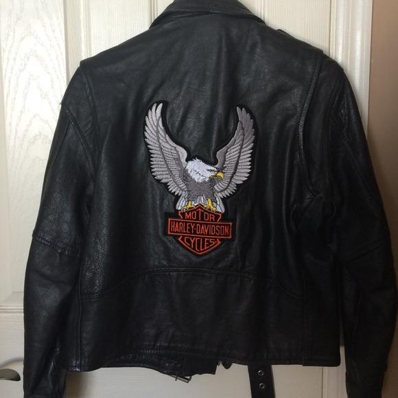 Harley Davidson Jackets Coats Leather Jacket With Patch Poshmark