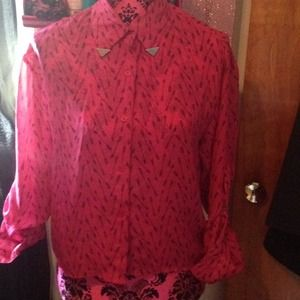 Material Girl chiffon button up