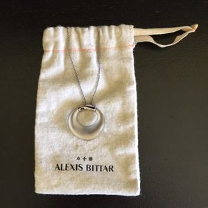 Alexis Bittar Circle Pendant Necklace
