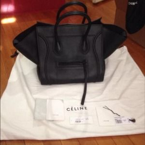 25% off Celine Handbags - C¨¦line Phantom Black Luggage Tote ...